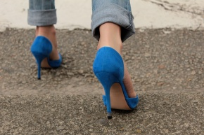 Electric Blue Stilettos