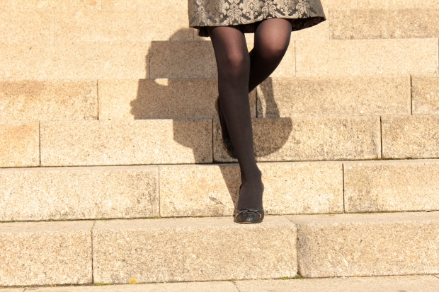 Rococo dress skirt with black tights