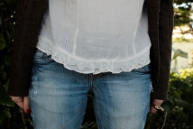 Romantic lace blouse hem