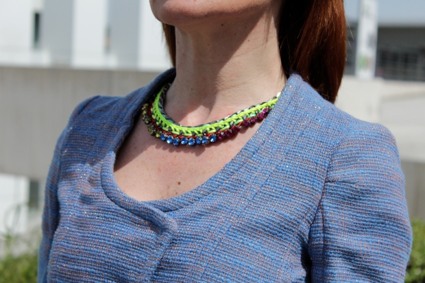 statement fluor necklace